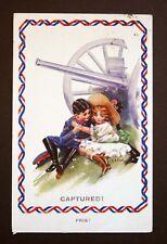 WW1 Postcard Soldier Cannon South Furzeham Road Brixham Devon Artist Signed Nash