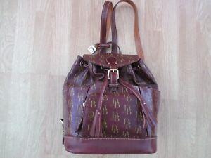 New Dooney & Bourke Bordeaux Buckle Drawstring Medium Backpack