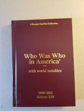 Who Was Who in America 2000-2002 (2002, Hardcover)