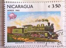 Nicaragua stamps - Centenario Adhesion de Nicaragua (Railways) - FREE P & P