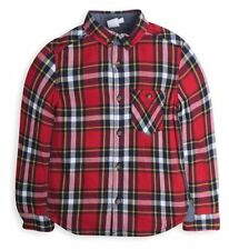 BOYS RED CHECKED LONG-SLEEVED SHIRT 9-12 MONTHS UPTO 23lbs (10kg) - BRAND NEW