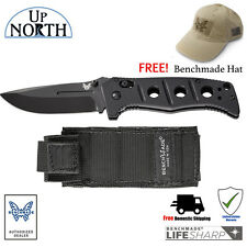 Benchmade 275BK Adamas Folding Knife Blade D2 Black Sheath FREE HAT