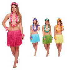 eeef09036d2c Adult Pink 5pc Set HAWAIIAN HONEY GIRL Summer Party Fancy Dress Costume One  Size