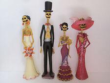 """4 CATRINA SET  mexican folk art   day of the dead  catrinas  wholesale lot 15"""""""
