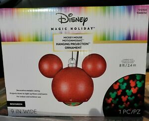 Mickey Mouse Hanging Projection Ornament Christmas Disney Magic Motionmosaic