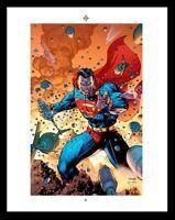DC Comics: Superman # 205 Cover | Rare Production Art By Jim Lee ( Color )