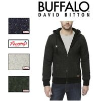 MEN'S BUFFALO DAVID BITTON SHERPA LINED FULL ZIP HOODIE JACKET! VARIETY! E13