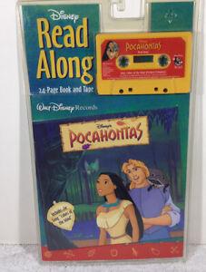 DISNEY'S POCAHONTAS Read-Along Cassette Tape & Book - NIB