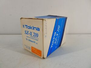 TOKINA SZ-X 210 70-210MM F4-5.6 FOR NIKON IN ORIGINAL PACKAGING WITH MANUALS G24