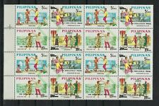 PHILIPPINES SCOTT # 1043-6 4 BLOCKS OF 4 MNH