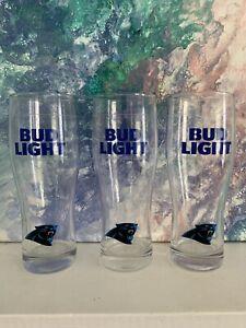Carolina Panthers Bud Light Beer Glass