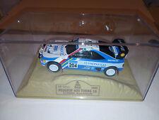 peugeot 405 rally dakar turbo 1989 vatanen berglund in diorama sulla sabbia