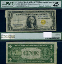 FR. 2306 $1 1935-A North Africa Note Butterfly Fold PMG VF25