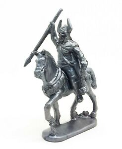 1/45 Mounted Viking Warrior Soft Plastic Toy Soldier 42 mm Figure