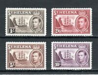 St Helena 1938-44 1s to 10s MH