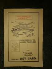 Middlesbrough f.c. v Lincoln City official programme 1954. Reduced price