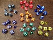 Pearl Multi sided dice set of 7 D4 D6 D8 D10 D12 D20 Dungeons D&D RPG Warhamme W