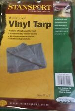 Waterproof Vinyl Tarp 5'x7' Stansport Camping