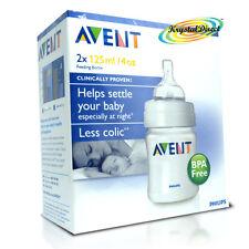 Philips Avent Baby Milk Feeding Bottles 125ml 2 Pack Colic BBA Free SCF680/27