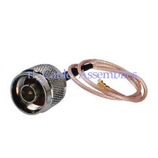 """IPX / u.fl to N male plug pigtail coax cable RG178 12"""" for NL-5354MP PLUS Aries2"""