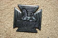 RGB&W ROYAL GLOSTER BERKSHIRE WILTSHIRE REGIMENT BRITISH SUBDUED BLACK CAP BADGE