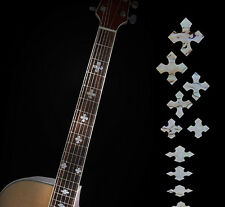 Guitar Inlay Stickers Pearl Cross Decals