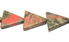 16mm Unakite Triangle Beads (10) TEN BEADS Gorgeous Stone!