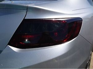 PRECUT VINYL TINT SMOKE OVERLAYS FOR 13-15 ACCORD COUPE 2DR TAIL LIGHT