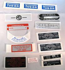 MG MGB Roadster Decal Sticker & Plate Set Kit 1965-67 MGK2004, 2GO8
