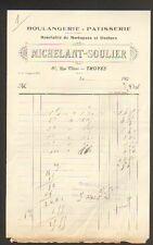 """TROYES (10) BOULANGERIE PATISSERIE """"MICHELANT - SOULIER"""" en 1925"""