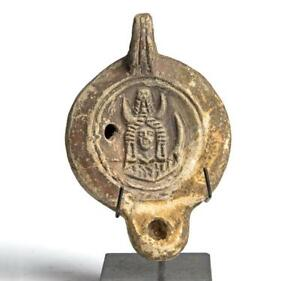 Roman Oil Lamp with Africa and maker's name: 2nd Century AD.