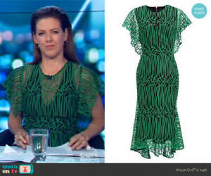 Ginger and Smart Gloria Lace Dress- Green Size 8
