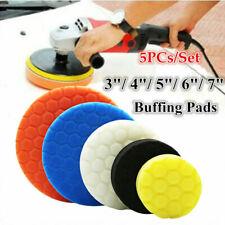 5PCs 3/4/5/6/7 inch Car Polishing Sponge Foam Buffing Pads Disc Wax Polisher Set