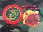 Vintage MARINE CORPS LEAGUE Worcester Ma. Detachment Camo T Shirt Size S (NWOT)