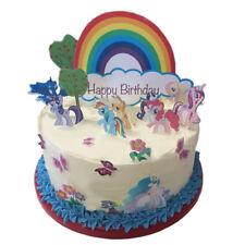 My Little Pony Happy Birthday Scene Edible Premium Wafer Paper Cake Topper