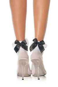 Leg Avenue Bow And Lace Ruffle Ankle Socks