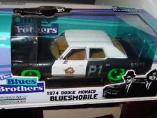 Greenlight BLUES BROTHERS 1974 DODGE MONACO GREEN MACHINE Black/White NICE!!
