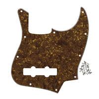 New Gold Brown Pearl 4-String FD Jazz Bass Pickguard Scratch Plate & Screws