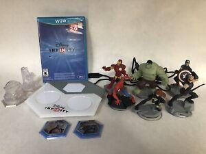 DISNEY INFINITY SET Base GAME PLUS 7 Marvel 2 Power Discs 2 Crystal Characters