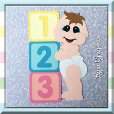 STANDING BABY BOY Card toppers &  Paper Piecing scrapbooking