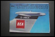 BRITISH EUROPEAN AIRWAYS TRIDENT AIRLINE POSTER BROCHURE BEA HAWKER SIDDELEY