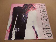 """Simply Red """"si no me conoces por ahora"""" 7"""" SINGLE P/s EX/en muy buena condición 1989"""