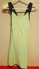 Reebok Tennis dress, apple green, DRI-FIT, women size M