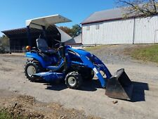 2006 New Holland TZ25DA Compact Tractor w/ Loader, Belly Mount Lawn Mower Hydro