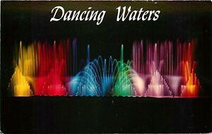 INTERNATIONALLY FAMOUS DANCING WATERS #1, DISNEYLAND HOTEL, ANAHEIM CA, POSTCARD