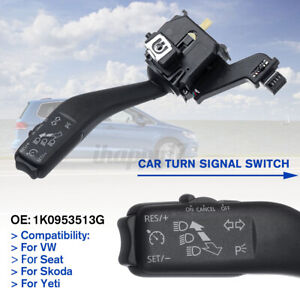 Cruise Control Turn Signal Switch Handle For VW Golf Touran Tiguan 1K0953513G