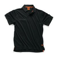 SCRUFFS WORKER POLO NEW DESIGN FOR 2019 BLACK or GRAPHITE SMALL TO XXL