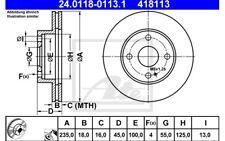 ATE Juego de 2 discos freno 235mm ventilado para MAZDA 323 MX-5 121