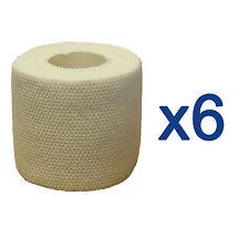 6x CMS Medical 5cm Professional Sports cinta de flejado Elástico Vendaje Adhesivo