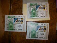 Lot of 3  1977 DOMINICA - QUEEN ELIZABETH II SILVER JUBILEE Stamps